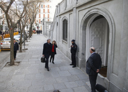 Marta Pascal, leader of PDeCAT party, arrives in Spain's Supreme Court (by ACN)