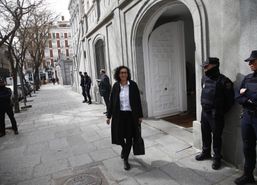 Esquerra Republicana's leader Marta Rovira after her hearing at the Supreme Court (by Javier Barbancho)