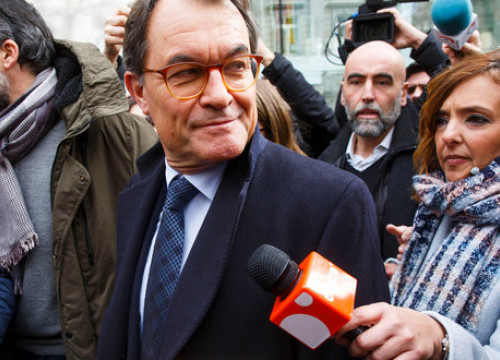 Former Catalan president Artur Mas leaving the Spanish Supreme Court in February this year (by ACN)