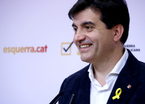 Sergi Sabrià, spokesperson for Esquerra Republicana (by Rafa Garrido)