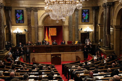 The Catalan Parliament during its plenary session on March 1 2018 (by Elisenda Rosanas)