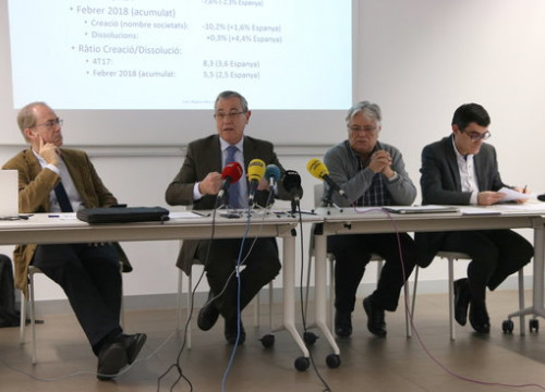 Press conference of the Association of Economists in Catalonia on Friday (by ACN)