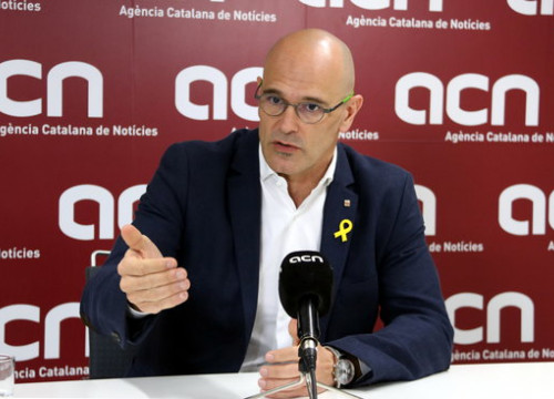 The Catalan deposed foreign minister Raül Romeva during his interview with ACN on March 15, 2018 (by Maria Belmez)