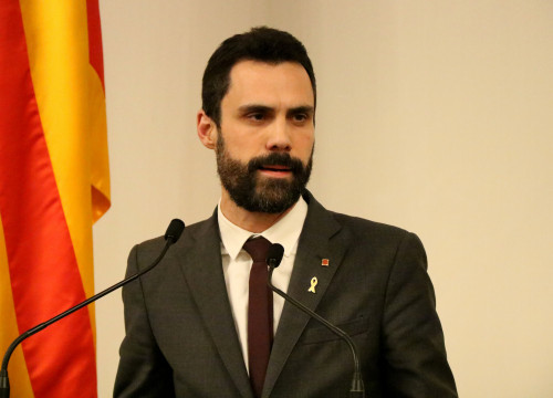 The Catalan Parliament President, Roger Torrent (by ACN)