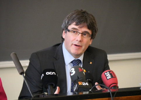 Carles Puigdemont in Helsinki prior to detention in Germany (by ACN)