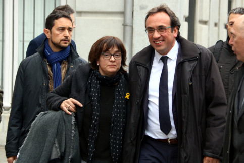 Josep Rull and his wife returning to the Supreme Court on March 23 2018 (by Pol Solà)