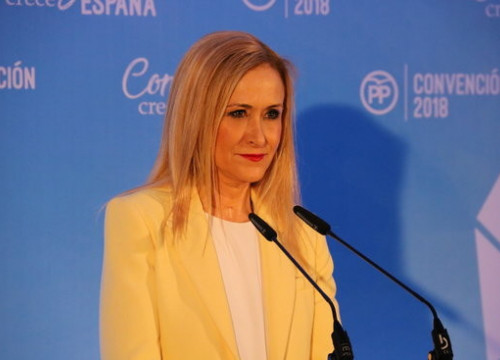 Cristina Cifuentes, the former president of the Madrid regional government (by Roger Pi de Cabanyes)
