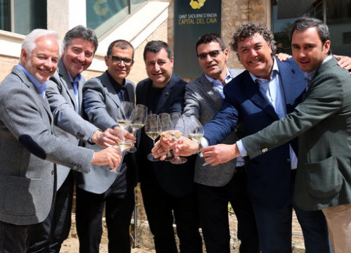 Representatives of the six cava producers who joined forces on April 10, 2018 (by Gemma Sánchez)