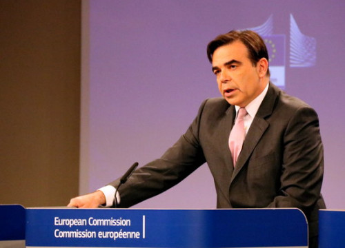 Margaritis Schinas, EC spokesperson, during press conference on April 10 (by ACN)