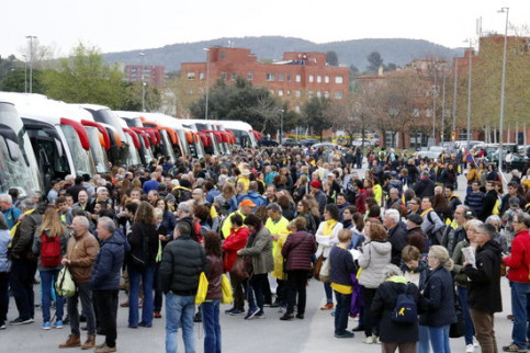 Some of the participants coming from the city of Girona for the demonstration on April 15 2018 (by Gerard Vilà)