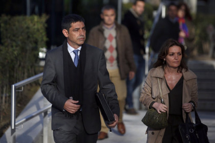 Former Catalan police chief Josep Lluís Trapero (left) arrives in Spain's National Court (by ACN)