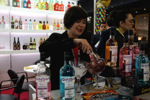 Non-alcoholic gin on display at Hostelco and Alimentaria fair (by ACN)