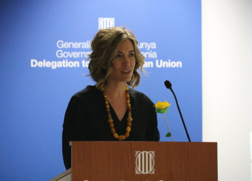 The dismissed General Director of Foreign Relations, Marina Falcó (By Blanca Blay / ACN)