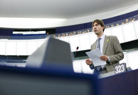 MEP Jordi Solé in the European Parliament (by EP)