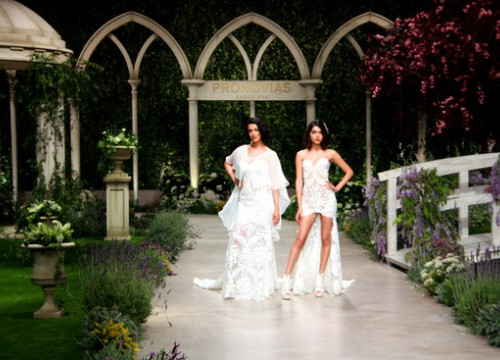 Models Blanca Romero and Lucia Rivera at Barcelona Bridal Fashion Week (by ACN)