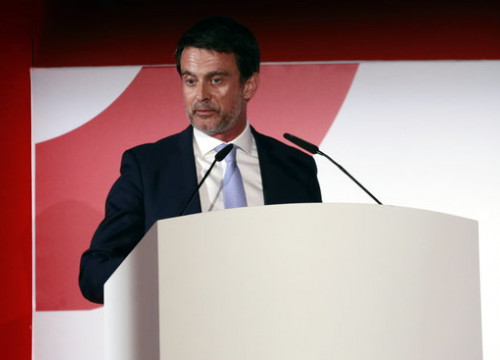 Manuel Valls at an event organized by Societat Civil Catalana (by ACN)