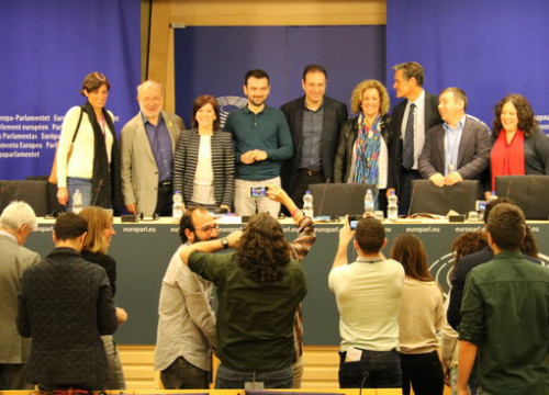 Workers of Spain's TVE in the European Parliament (by Blanca Blay)