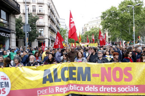 Demonstration by Intersindical-CSC trade union and the Catalan National Assembly (by Rafa Garrido)