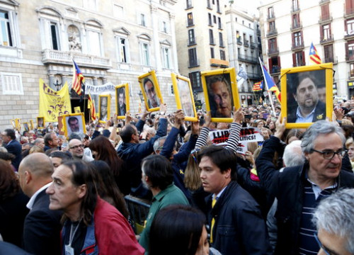 Demonstration to demand the release of jailed pro-independence leaders (by ACN)