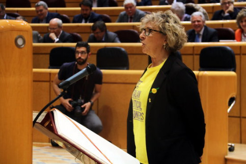 ERC member Mirella Cortès at Spanish senate on Tuesday (by ACN)