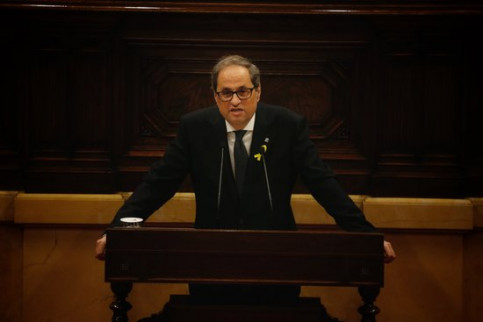 Quim Torra, during his investiture speech on May 14, 2018 (by Marc Rovira)