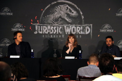 Press conference for world premiere of 'Jurassic World: Lost Kingdom'
