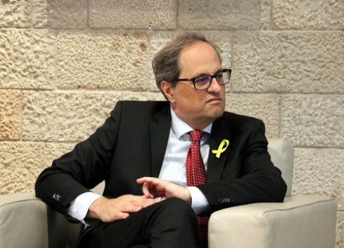 Catalan president Quim Torra on Tuesday (by ACN)