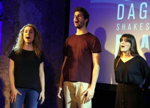 Performers interpreting one of the numbers in Dagoll Dagom's 'Maremar' on May 29 2018 (by Pere Franchesch)