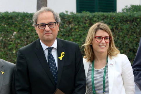 Catalan president Quim Torra with Elsa Artadi (by ACN)