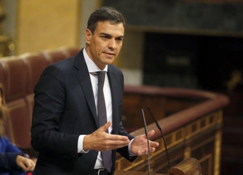 Spanish  president Pedro Sánchez in congress (by ACN)