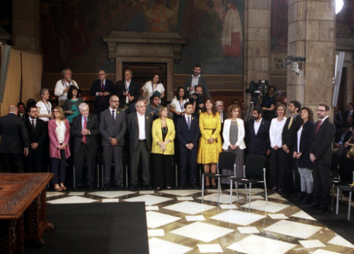 The new Catalan government members during their inaugurations on June 2, 2018 (by Marc Rovira)