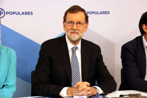 Former Spanish president Mariano Rajoy on day of resignation as People's Party leader (by ACN)