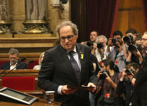 The Catalan president, Quim Torra, in Parliament on June 6, 2018 (by Núria Julià)