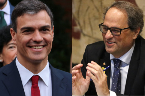 Pedro Sánchez and Quim Torra (by ACN)