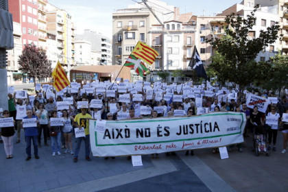 A protest in Lleida in support of the accused in the Altsasu case (by Estela Busoms)