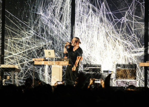 Thom Yorke during the 2018 Sónar concert (by Sónar)
