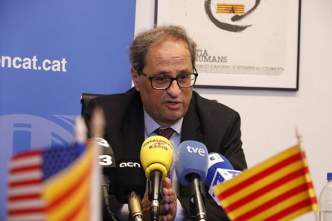 Catalan president Quim Torra (by Laura Busquets)