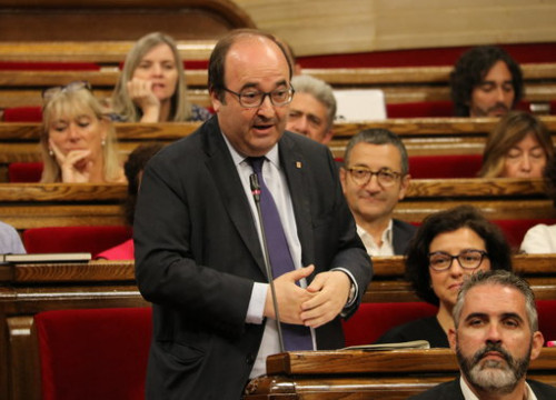 PSC leader Miquel Iceta during a speech in Parliament (by ACN)