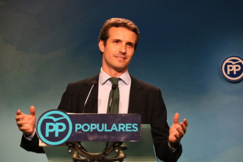 One of the candidates to lead Spain's People's Party, Pablo Casado, on July 6 (by Roger Pi de Cabanyes)