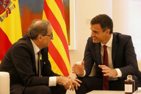 Pedro Sánchez and Quim Torra on Monday (by ACN)