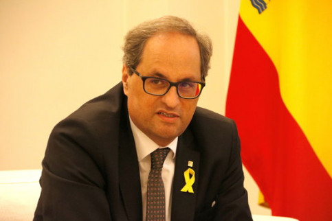 Catalan president Quim Torra during his meeting with Pedro Sánchez on July 9, 2018 (by Rafa Garrido)