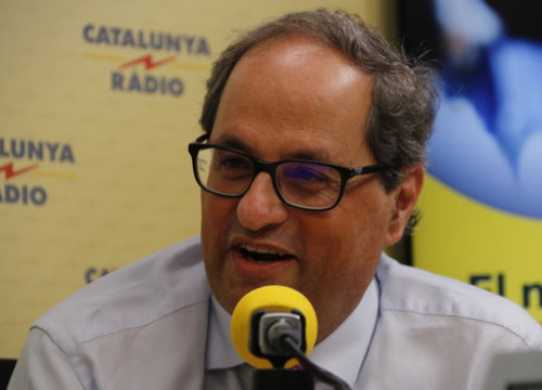 The Catalan president, Quim Torra, during the interview with Catalunya Ràdio on July 10, 2018 (by Guillem Roset)