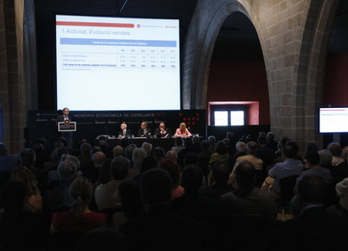 The presentation of the Economic Memory of Catalonia in July 13 2018 (by Guillem Roset)