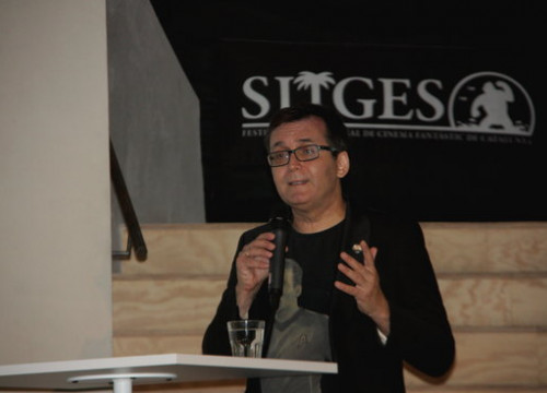Director of Sitges Film Festival Ángel Sala during a presentation on July 19 2018 (Pilar Tomás)