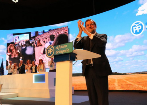Mariano Rajoy speaks at a PP congress on July 20 2018 (by Roger Pi de Cabanyes)
