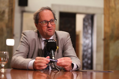 President Quim Torra in interview with Catalan News Agency (ACN)