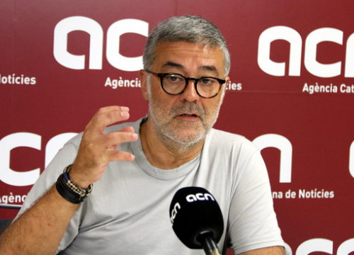 The CUP MP Carles Riera during an interview with the Catalan News Agency in August 2018 (by Pere Francesch)