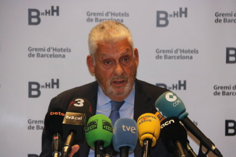 President of Barcelona Hotel Association Jordi Clos on Thursday (ACN)