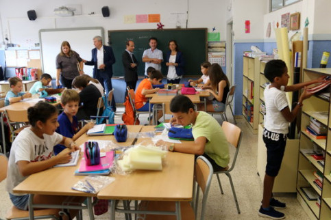 A school in Tortosa, southern Catalonia, on the first day of class (by ACN)