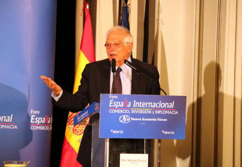 Spanish foreign affairs minister Josep Borrell in Madrid (ACN)